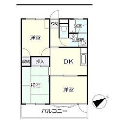 板橋ビル[3階]の間取り