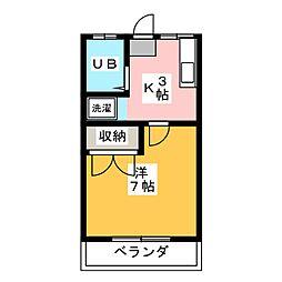 シマハイツ1[2階]の間取り