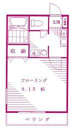 クレセントユニ宿河原[1階]の間取り