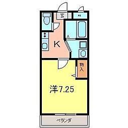 エクステージ[3051号室]の間取り