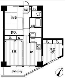 コンフォート相武台[5階]の間取り