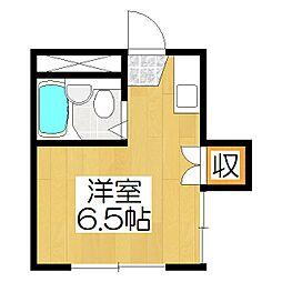 カサローゼ吉田[203号室]の間取り