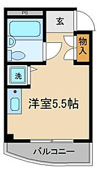 奥村マンション[4階]の間取り