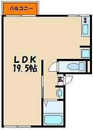 ツインズコート[1階]の間取り