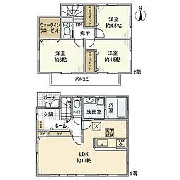 [一戸建] 神奈川県大和市西鶴間7丁目 の賃貸【/】の間取り