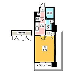 CLUB ORIENT No.70 HARBOR SOUTH 5階1Kの間取り