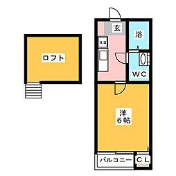 プライマリステージ吉塚[1階]の間取り