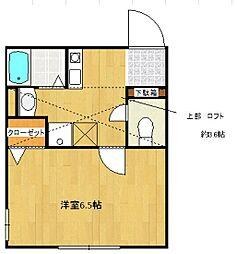 ジョルノ橋本[2階]の間取り