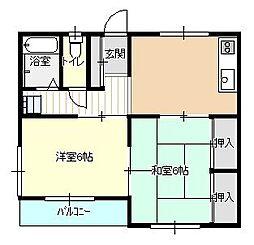 東京都八王子市上野町の賃貸マンションの間取り