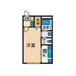 ガラージュ湘南[1階]の間取り