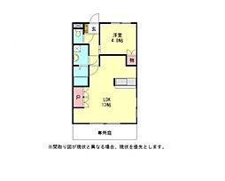 愛知県岩倉市東町掛目の賃貸アパートの間取り