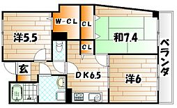 グリーンハイム田原新町[3階]の間取り