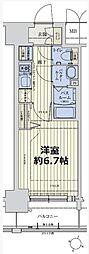 スワンズシティ新大阪ヴィーヴォ 3階1Kの間取り