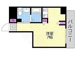 Osaka Metro千日前線 西長堀駅 徒歩4分の賃貸マンション 5階1Kの間取り