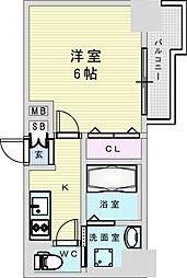 Osaka Metro御堂筋線 新大阪駅 徒歩8分の賃貸マンション 5階1Kの間取り