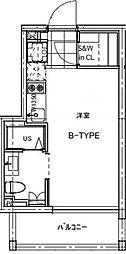 B CITY APARTMENT TACHIKAWA[104号室号室]の間取り