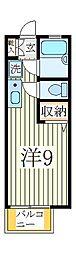 第3フジハイツ[1階]の間取り