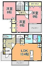 [一戸建] 茨城県那珂郡東海村石神外宿 の賃貸【/】の間取り
