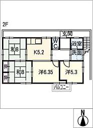 大井西住居[2階]の間取り
