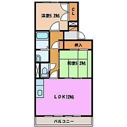 シャトー粟島[1階]の間取り