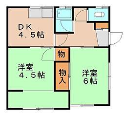 深見アパート[2階]の間取り