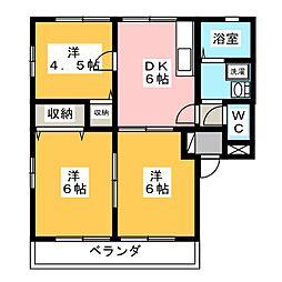 メゾン柿田 A[2階]の間取り