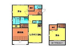 (仮)姫小川町新築アパートA棟[102号室]の間取り