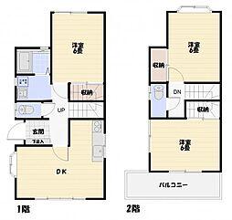 [一戸建] 神奈川県横須賀市ハイランド1丁目 の賃貸【/】の間取り