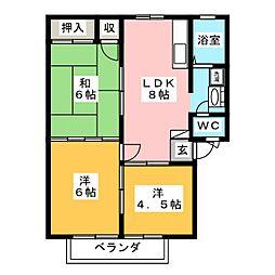 ベルゾーネ木町 B棟[1階]の間取り