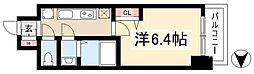 アステリ鶴舞ディオ 10階1Kの間取り