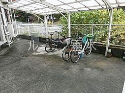 ルエ多聞の駐輪場