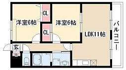 愛知県名古屋市緑区滝ノ水1の賃貸アパートの間取り