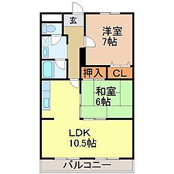 川崎マンション壱番館[1階]の間取り