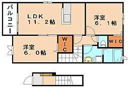 エススタイル II[2階]の間取り
