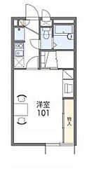 JR赤穂線 西大寺駅 バス7分 川口下車 徒歩1分の賃貸アパート 2階1Kの間取り