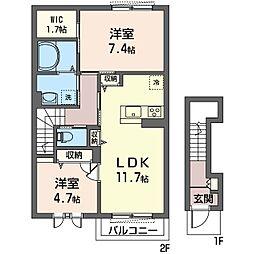 仮称 志木市中宗岡2丁目シャーメゾン[2階]の間取り