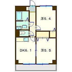 クレ−ル泉[2階]の間取り