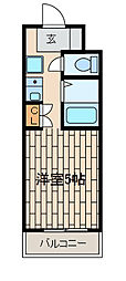 第二コスモ大和[2階]の間取り