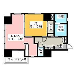 AQUA STAGE 1[5階]の間取り