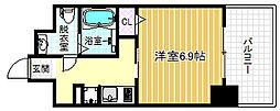 エイペックス北梅田[11階]の間取り