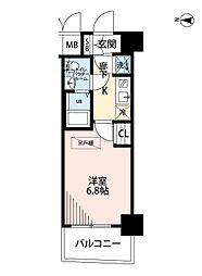Osaka Metro千日前線 桜川駅 徒歩3分の賃貸マンション 10階1Kの間取り