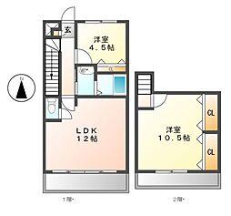 ラソナロッサ(La Zona rosa)[2階]の間取り