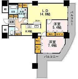 品川シーサイドビュータワーII[26階]の間取り
