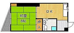 TOEI城野ビル[406号室]の間取り