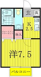 ティアラK−III[1階]の間取り