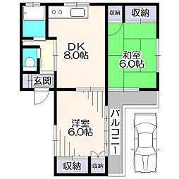 司ハウス[1階]の間取り