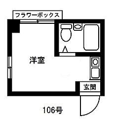 東京ボンプラーツ[106号室]の間取り