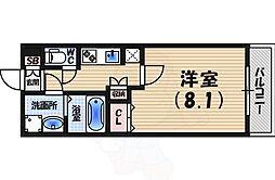 阪急今津線 甲東園駅 徒歩9分の賃貸マンション 3階1Kの間取り