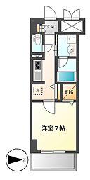 プレミアムコート新栄[5階]の間取り