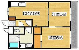 クレインズマンション[3階]の間取り